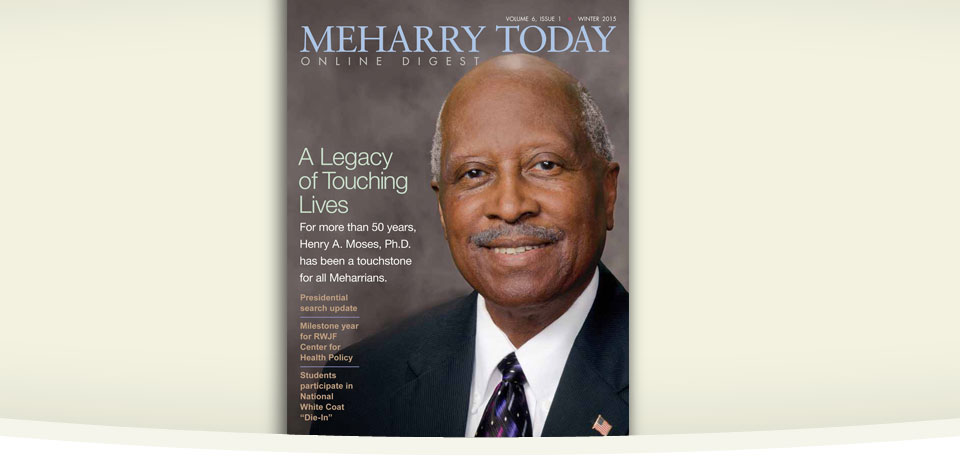 Winter 2015 Meharry Today cover
