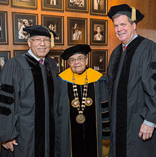Honorary degree recipients with President Epps