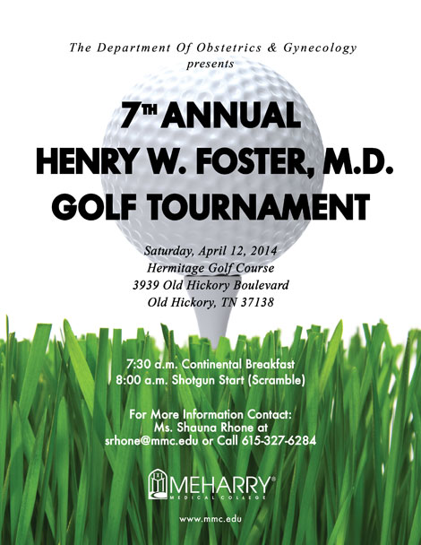 Foster Golf Tournament Flyer