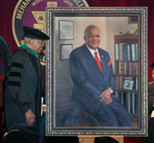 Dr. Foster with official portrait