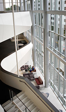 The atrium of The Cal Turner Family Center for Student Education