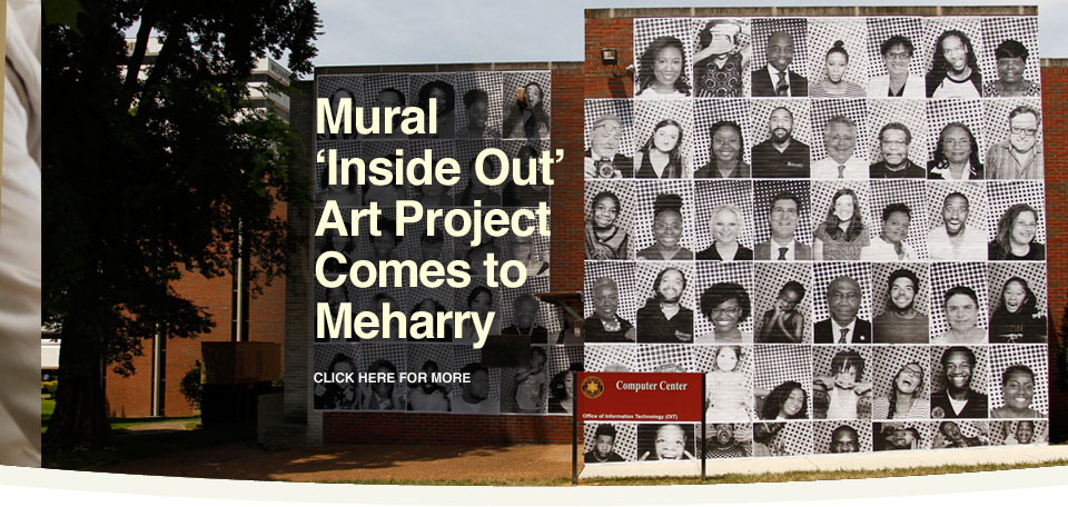 Inside Out mural on Meharry campus