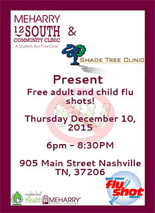 Meharry 12 South flu shots