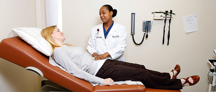 meharry doctor with patient